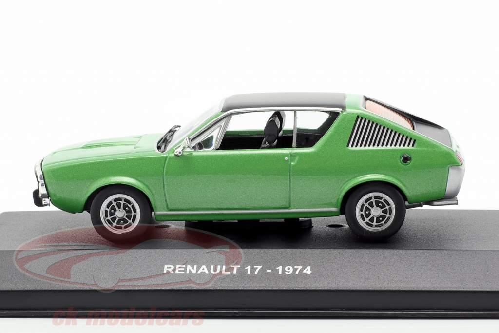 Renault 17 année de construction 1974 vert métallique / noir 1:43 Solido