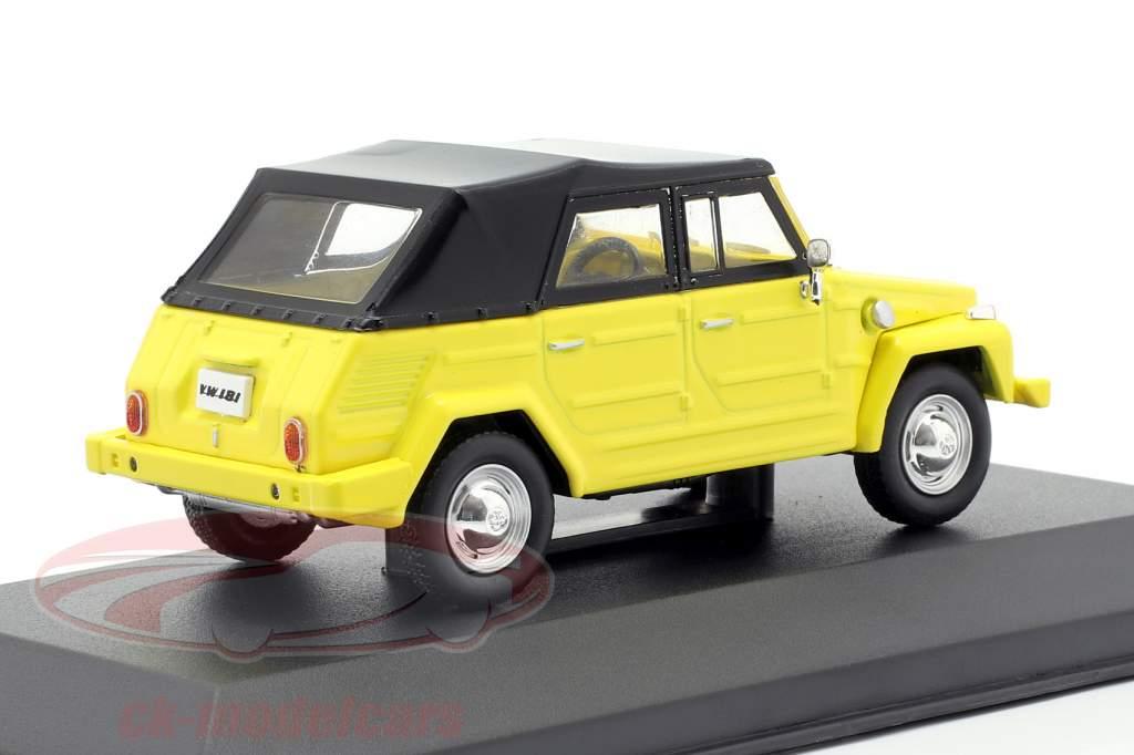 Volkswagen VW 181 The Thing Opførselsår 1971 gul / sort 1:43 Solido