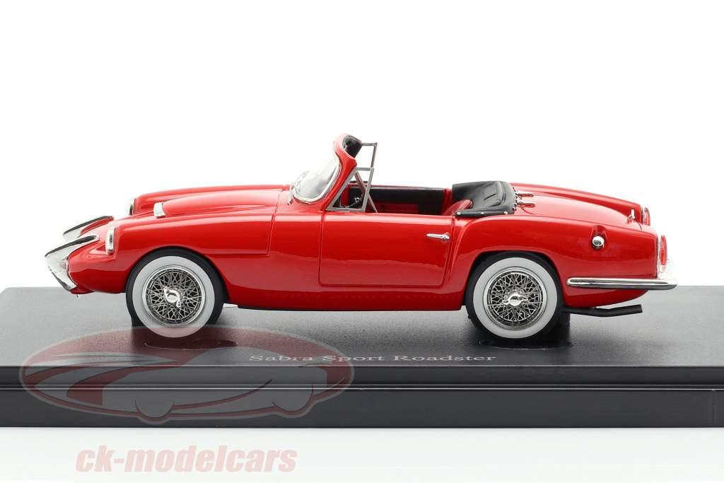 Sabra Sport Roadster ano de construção 1962 vermelho 1:43 AutoCult