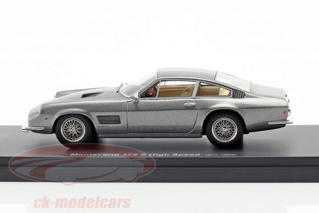 Monteverdi 375 S High Speed year 1968 silver gray 1:43 AutoCult