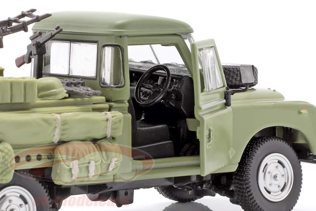 Land Rover Series III 109 veículo militar oliva 1:43 Cararama