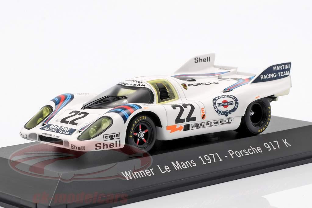 Porsche 917 K #22 Vincitore 24h LeMans 1971 Marko, Lennep 1:43 Spark