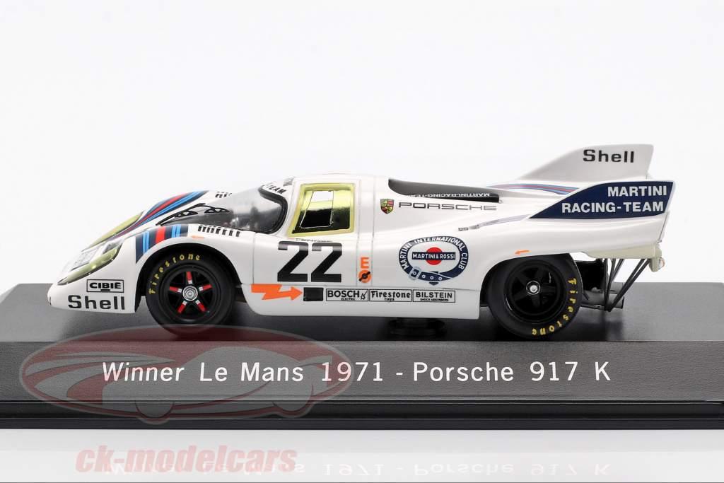 Porsche 917 K #22 Gagnant 24h LeMans 1971 Marko, Lennep 1:43 Spark