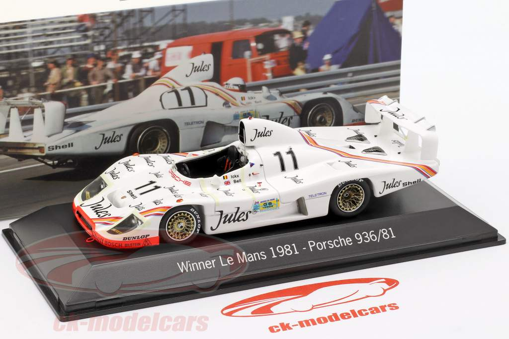 Porsche 936 #11 Winner 24h LeMans 1981 Jacky Ickx, Derek Bell 1:43 Spark