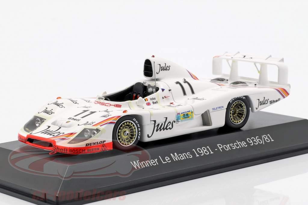 Porsche 936 #11 Gagnant 24h LeMans 1981 Jacky Ickx, Derek Bell 1:43 Spark