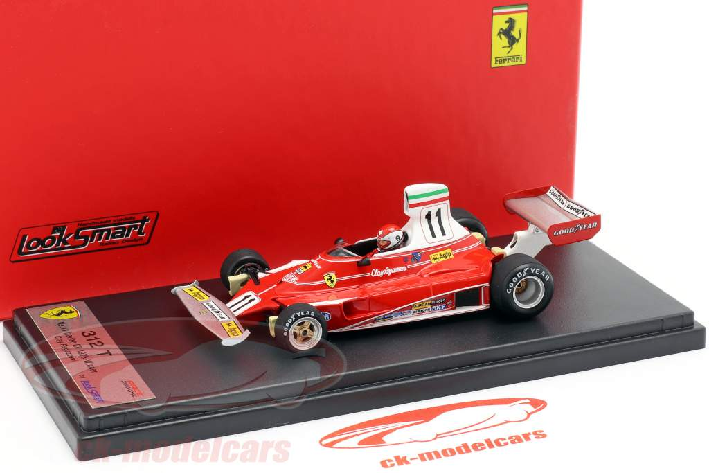 Clay Regazzoni Ferrari 312T #11 ganador italiano GP fórmula 1 1975 1:43 LookSmart