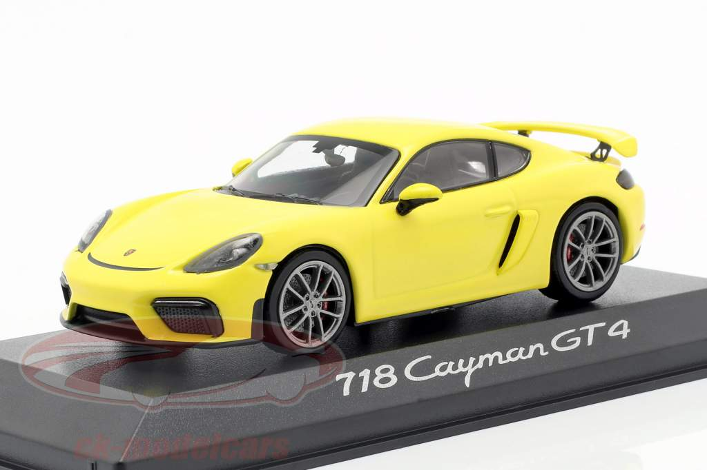 Porsche 718 (982) Cayman GT4 Year 2019 yellow 1:43 Minichamps