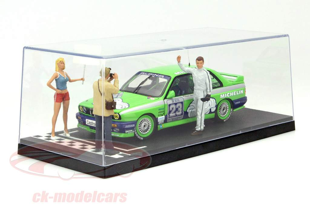 Single collector showcase Pole-Position and Start/Finish Line print 1:18 Triple9