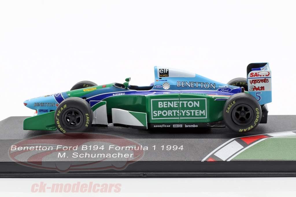 Michael Schumacher Benetton B194 #5 campeão do mundo fórmula 1 1994 1:43 CMR