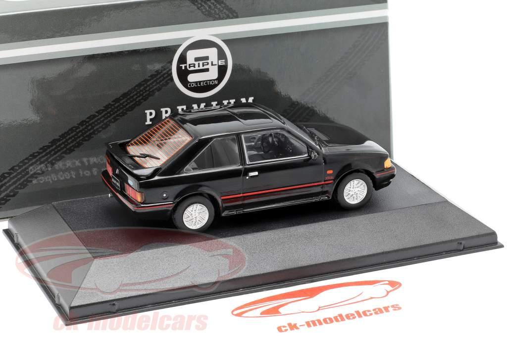 Ford Escort XR3i anno di costruzione 1990 nero 1:43 Triple 9