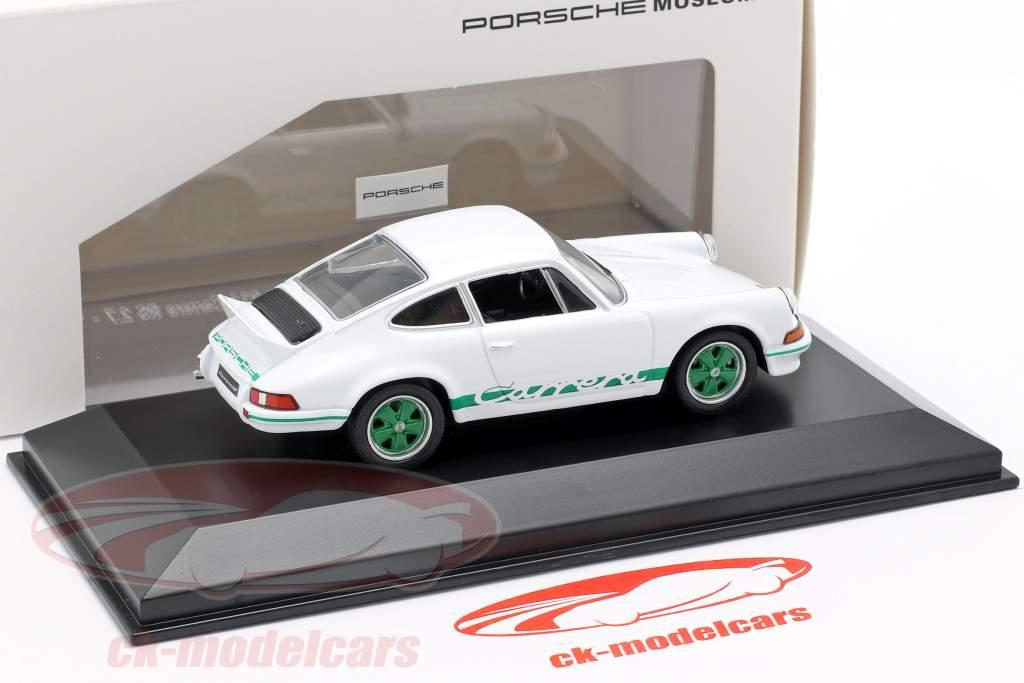 Porsche 911 Carrera RS År 1973 hvid 1:43 Welly