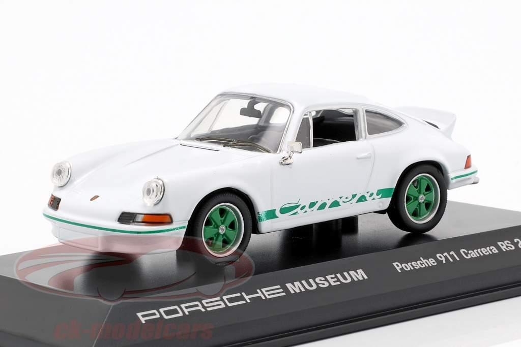 Porsche 911 Carrera RS Jaar 1973 wit 1:43 Welly