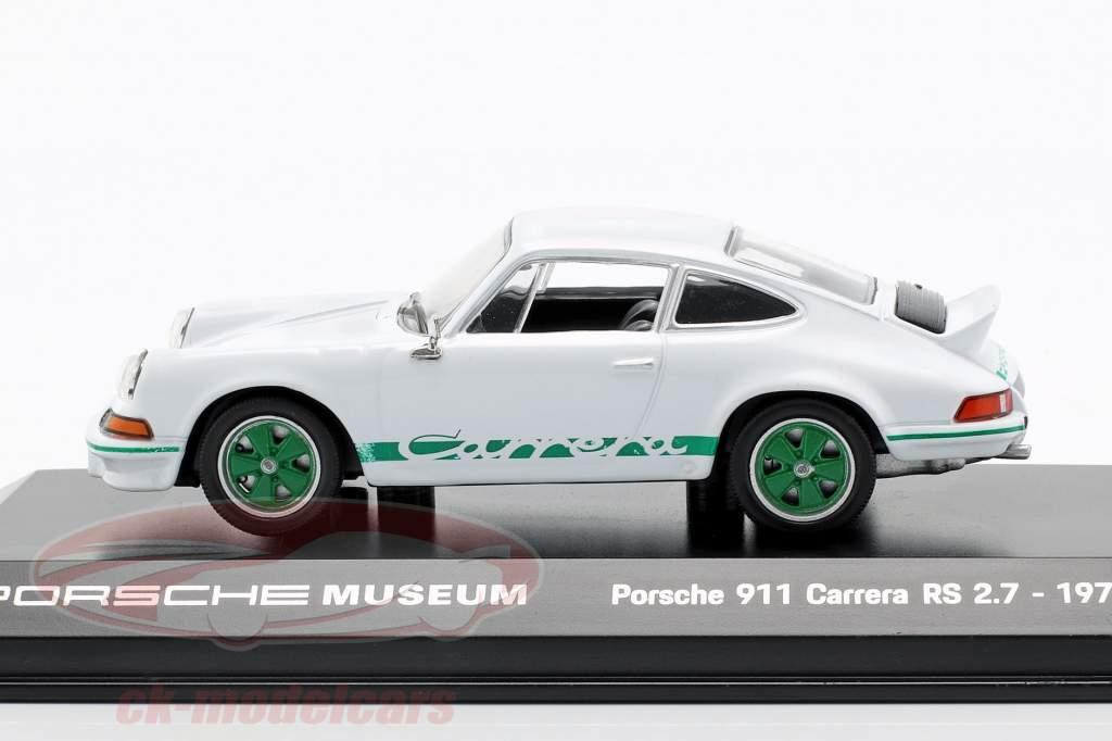 Porsche 911 Carrera RS Anno 1973 bianco 1:43 Welly