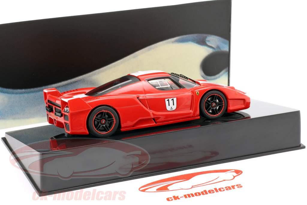 Ferrari FXX #11 rood met witte strepen 1:43 HotWheels Elite