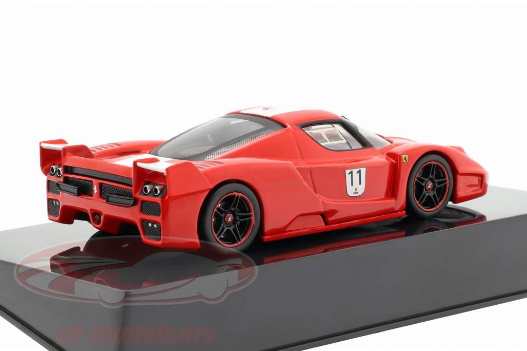 Ferrari FXX #11 red with white stripes 1:43 HotWheels Elite