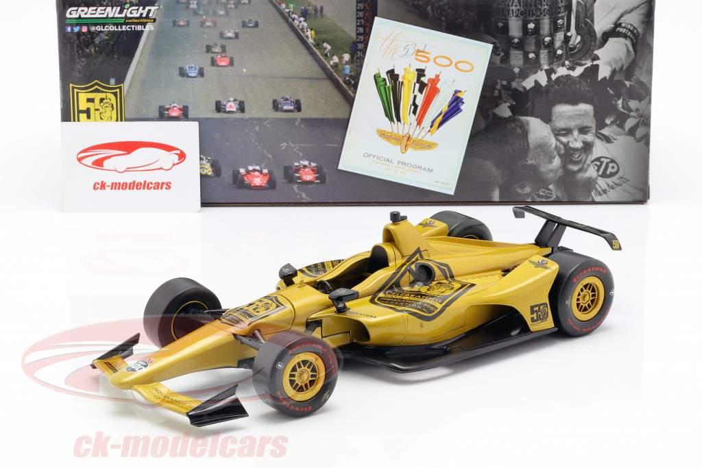 Mario Andretti 50 ° anniversario Indy 500 campione 1969 Dallara Universal Aero Kit 1:18 Greenlight