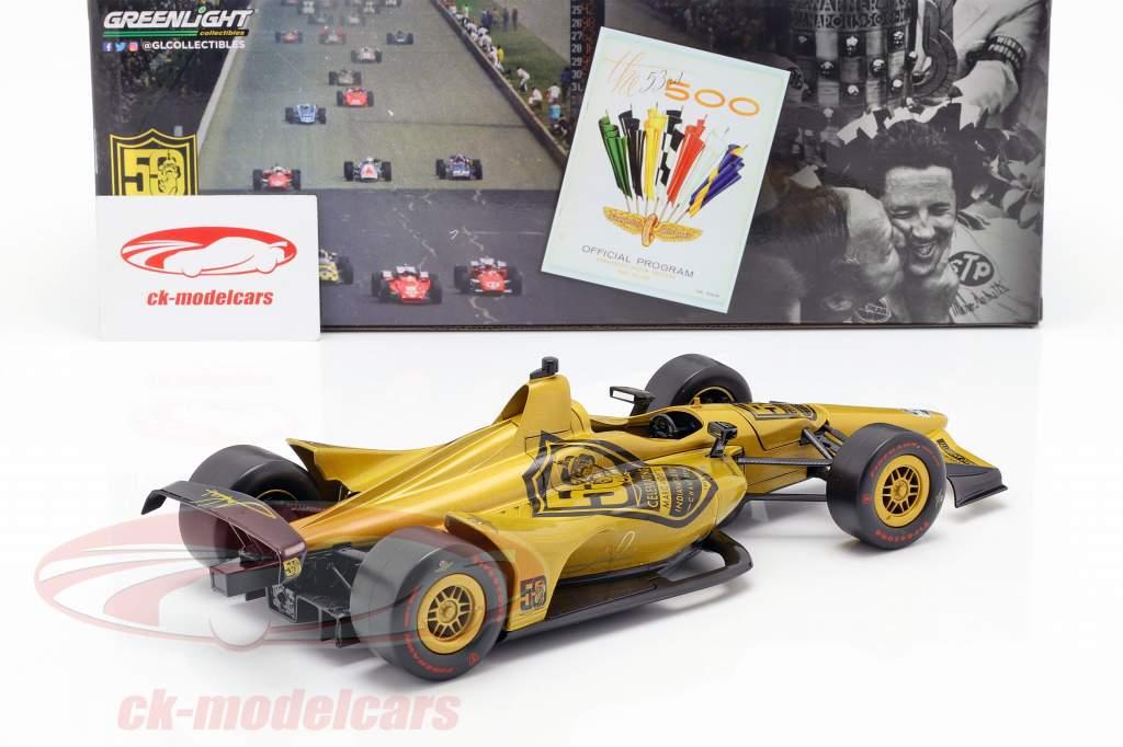 Mario Andretti 50 aniversário Indy 500 campeão 1969 Dallara Universal Aero Kit 1:18 Greenlight