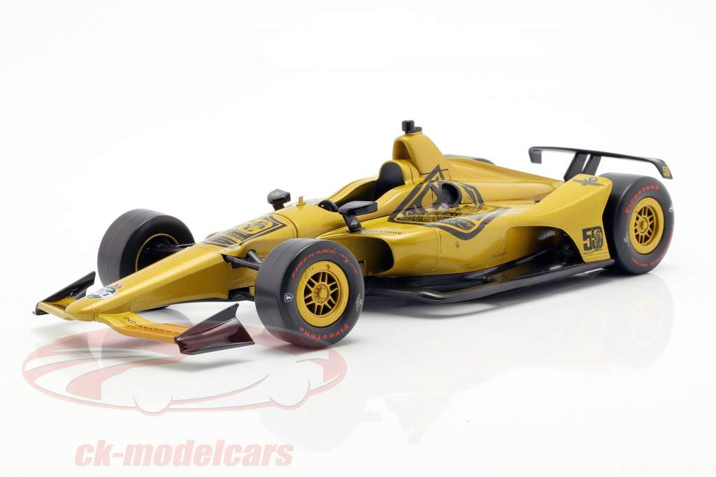 Mario Andretti 50th jubilæum Indy 500 mester 1969 Dallara Universal Aero Kit 1:18 Greenlight