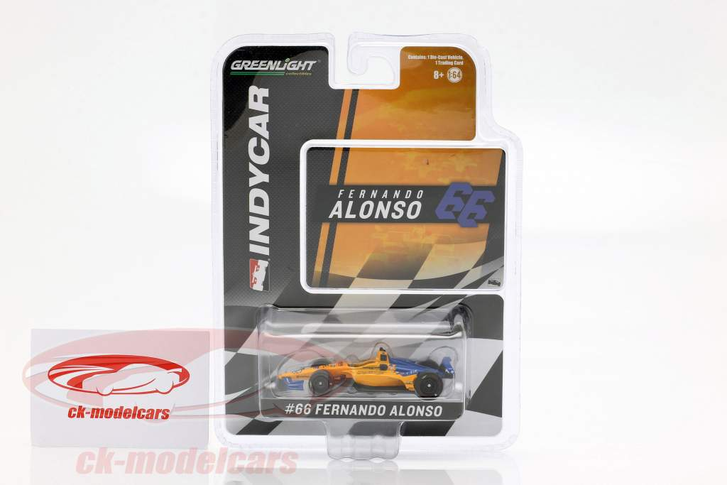 Fernando Alonso Chevrolet #66 calificativo Indy 500 2019 McLaren Racing 1:64 Greenlight