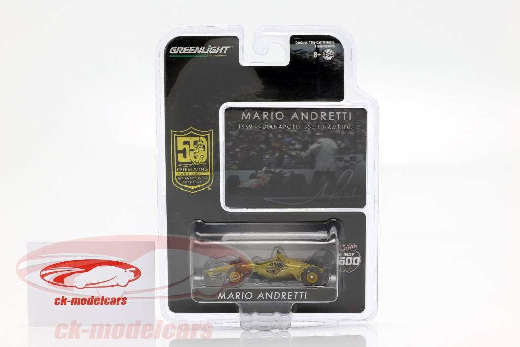 Mario Andretti 50th Anniversary Indy 500 Champion 1969 Dallara Universal Aero Kit 1:64 Greenlight