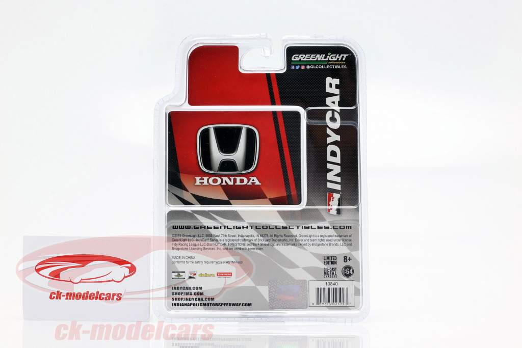 Honda Dallara Universal Aero Kit #19 Indycar Series 2019 1:64 Greenlight