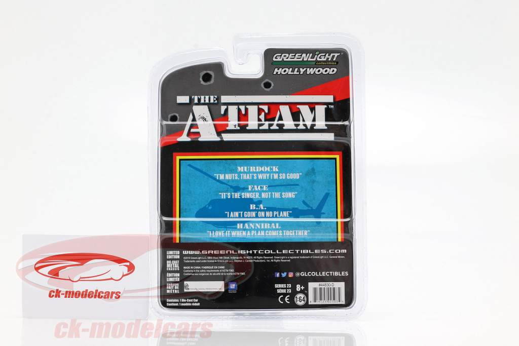 Chevrolet Impala Baujahr 1967 TV-Serie Das A-Team (1983-87) blaugrau 1:64 Greenlight