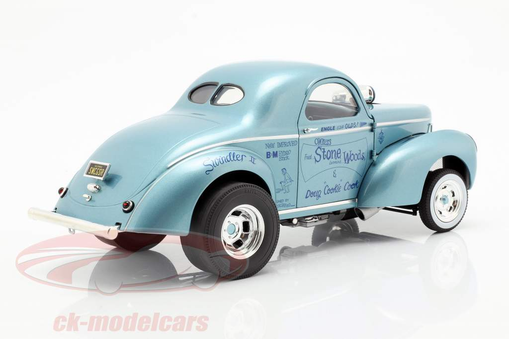 Willys Gasser Swindler II Stone Woods & Cook 1941 blu 1:18 GMP