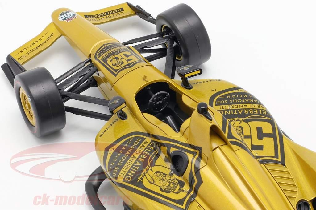 Mario Andretti 50e anniversaire Indy 500 champion 1969 Dallara Universal Aero Kit 1:18 Greenlight