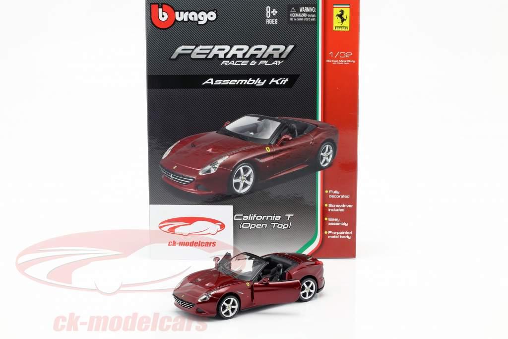 Ferrari California T Open Top mørk rød samling Kit 1:32 Bburago