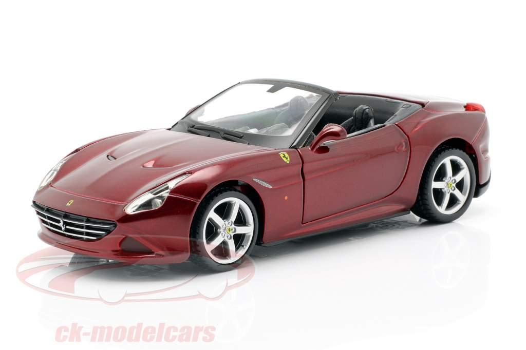Ferrari California T Open Top dunkelrot Bausatz 1:32 Bburago