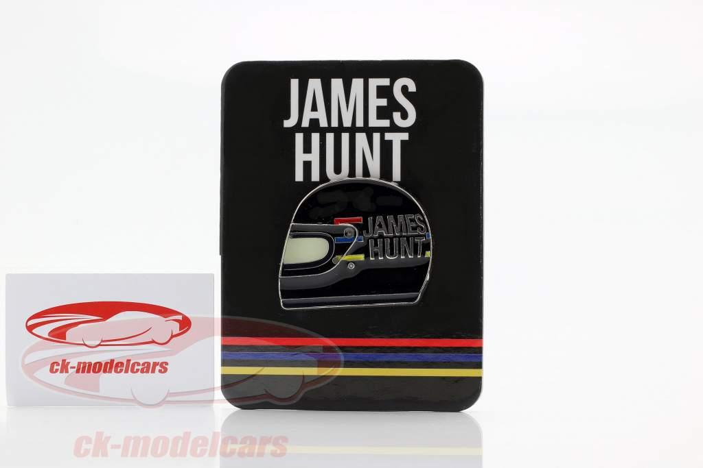 James caça McLaren M23 campeão do mundo fórmula 1 1976 botões capacete