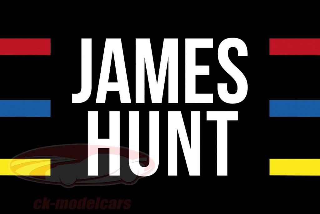 James Hunt McLaren M23 campeón del mundo fórmula 1 1976 bandera casco 140 x 100 cm