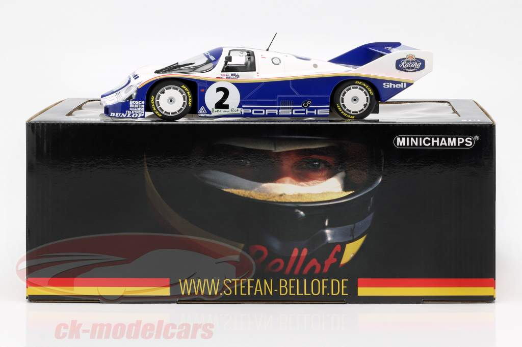 Porsche 956K #2 vencedor 1000km Nürburgring 1984 Bellof, Bell 1:18 Minichamps