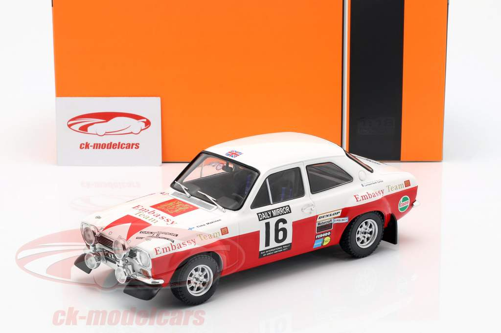 Ford Escort RS 1600 Mk1 #16 5th RAC Rallye 1971 Mäkinen, Liddon 1:18 Ixo