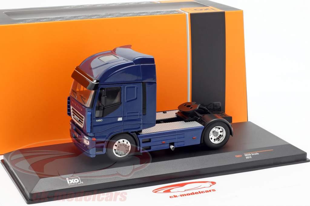 Iveco Stralis camion année de construction 2012 bleu métallique 1:43 Ixo