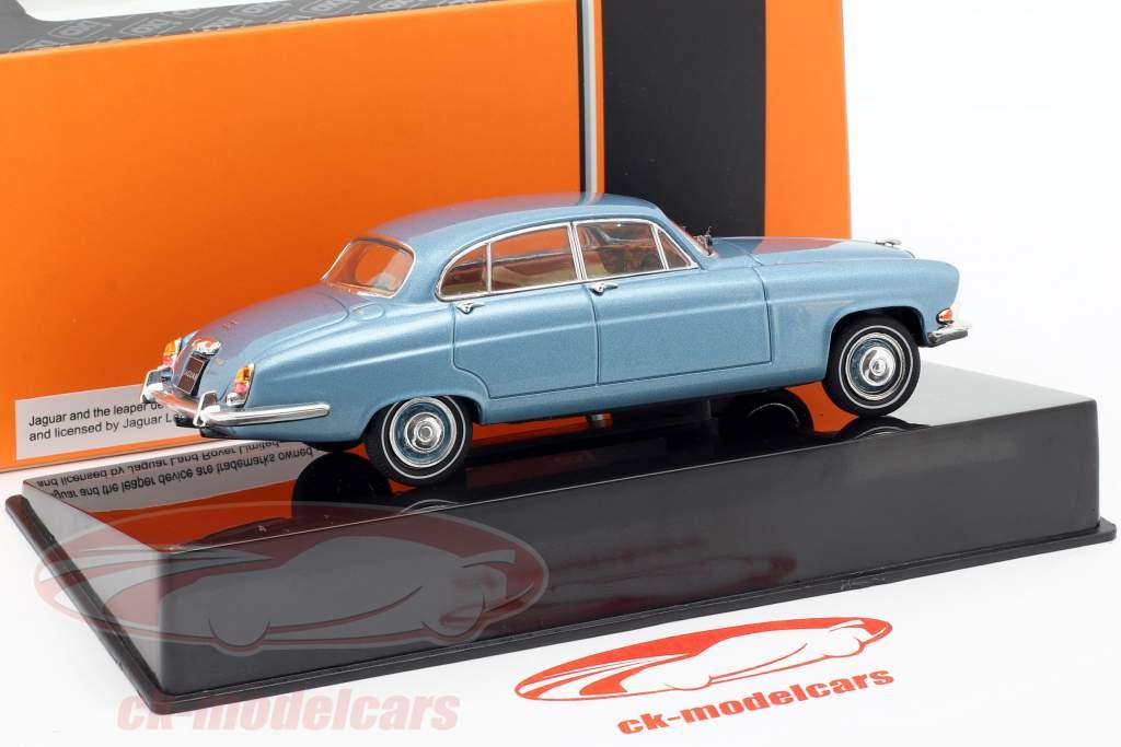 Jaguar Mark X Opførselsår 1961 blå metallisk 1:43 Ixo