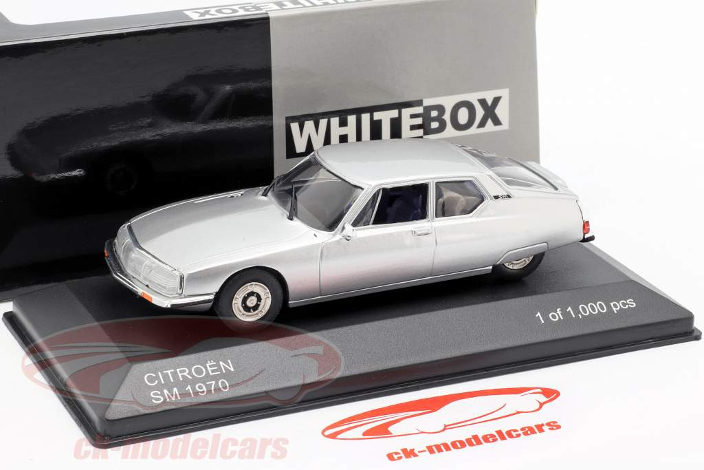 Citroen SM année de construction 1970 argent 1:43 WhiteBox