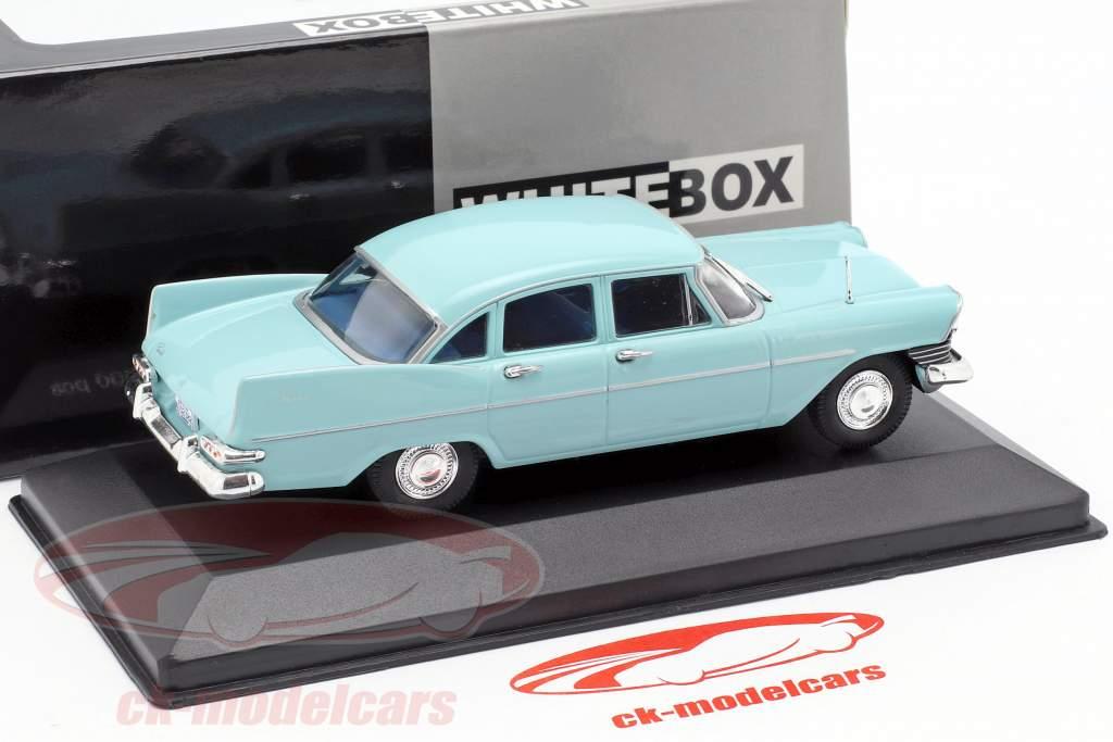 Plymouth Savoy Sedan year 1959 light blue 1:43 WhiteBox