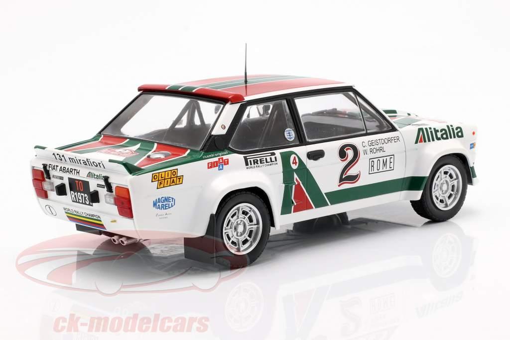 Fiat 131 Abarth #2 4. Rallye Monte Carlo 1978 Röhrl, Geistdörfer 1:18 Ixo