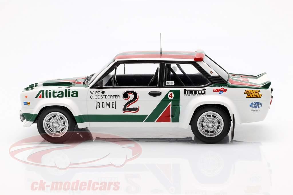 Fiat 131 Abarth #2 4th Rallye Monte Carlo 1978 Röhrl, Geistdörfer 1:18 Ixo