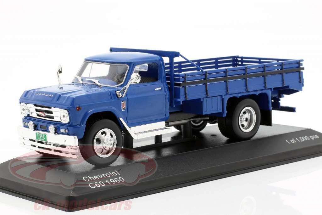 Chevrolet C60 caminhão ano de construção 1960 azul 1:43 WhiteBox