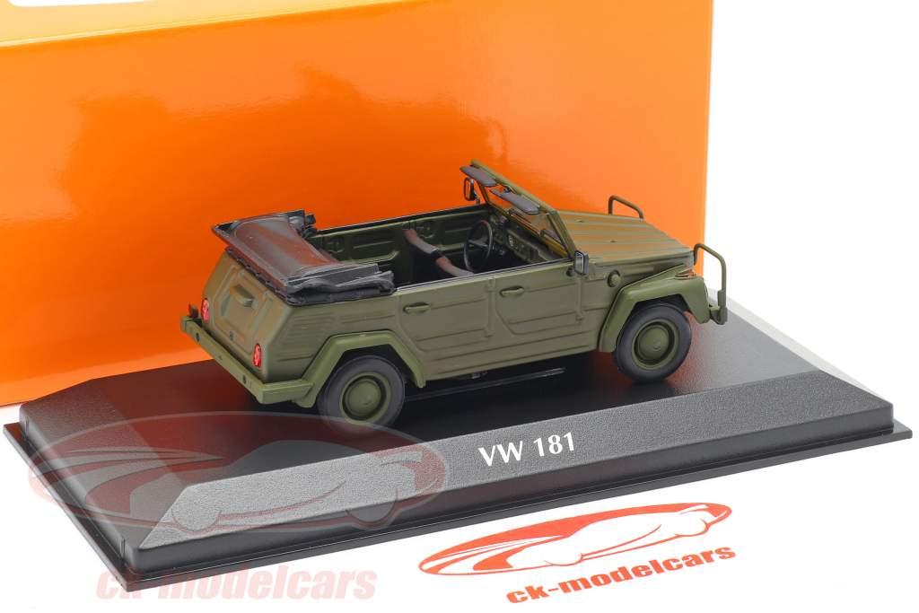 Volkswagen VW 181 year 1979 olive 1:43 Minichamps