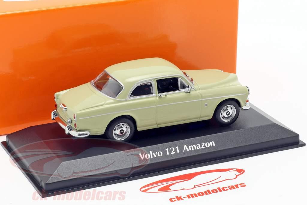Volvo 121 Amazon ano de construção 1966 luz verde 1:43 Minichamps