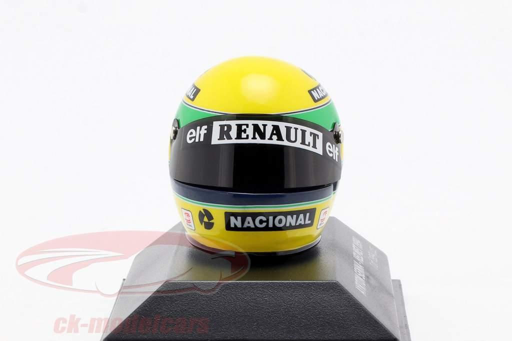 Ayrton Senna McLaren MP4/4 San Marino GP formel 1 1994 hjelm 1:8 Minichamps