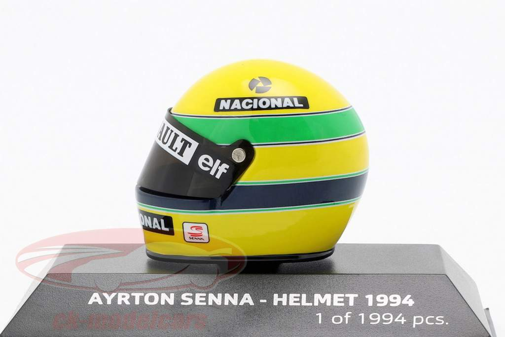 Ayrton Senna McLaren MP4/4 San Marino GP formule 1 1994 helm 1:8 Minichamps