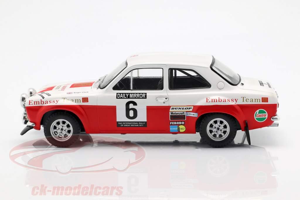 Ford Escort RS 1600 Mk1 #6 RAC Rallye 1971 Clark, Porter 1:18 Ixo