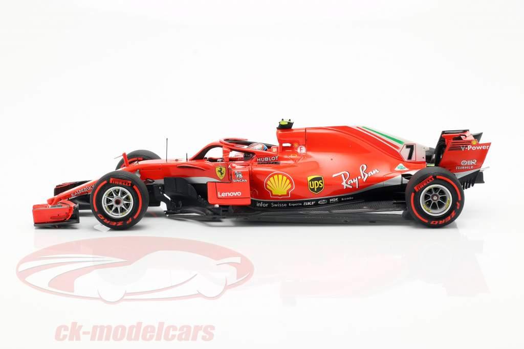 Kimi Räikkönen Ferrari SF71H #7 6ª canadense GP fórmula 1 2018 1:18 BBR