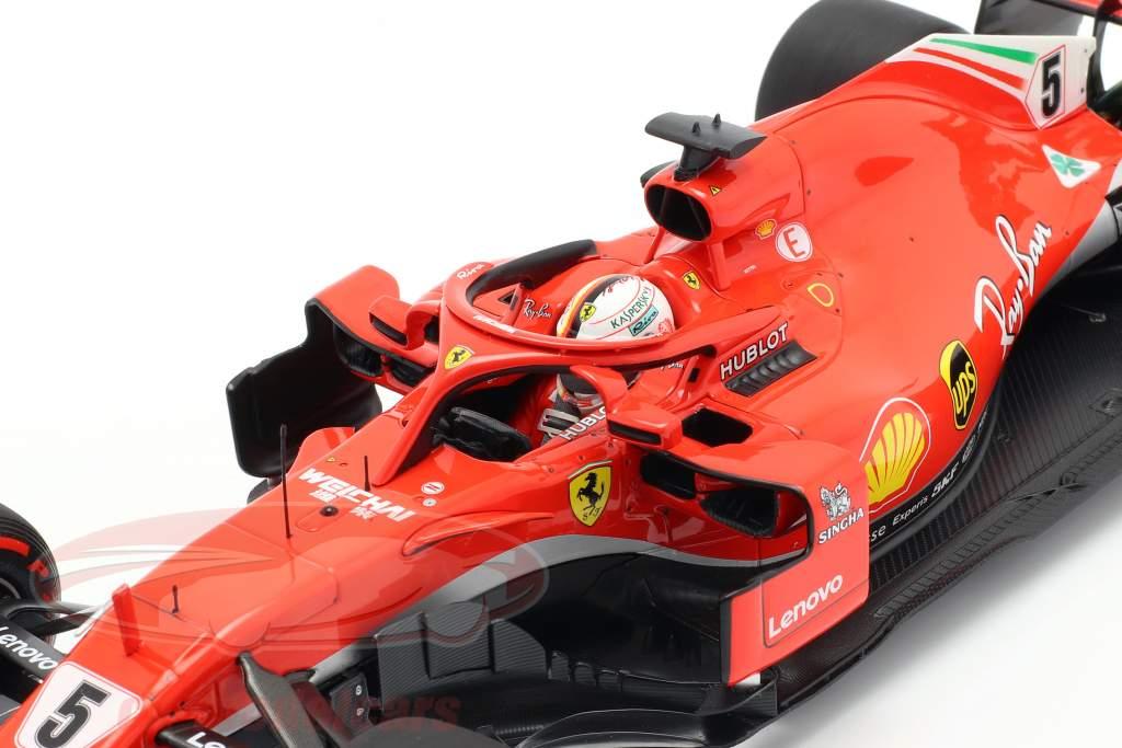 Sebastian Vettel Ferrari SF71H #5 vencedor canadense GP fórmula 1 2018