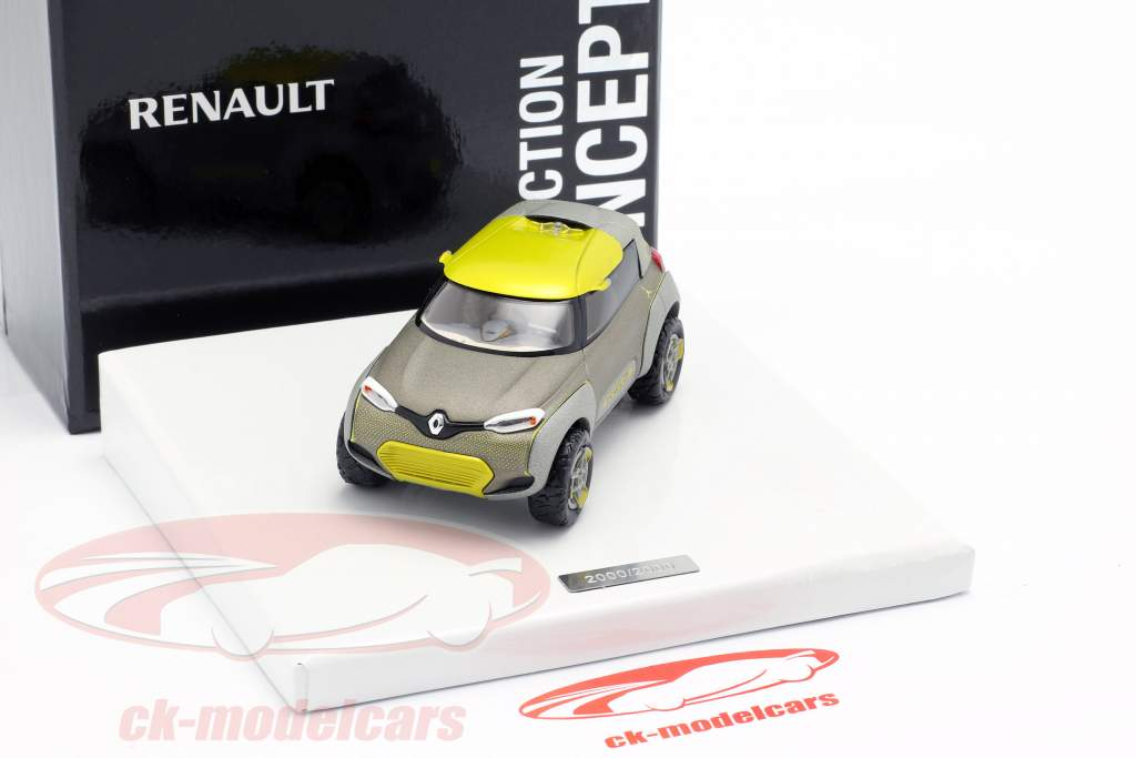 Renault Kwid Concept Car 2015 grå metallisk / gul 1:43 Norev