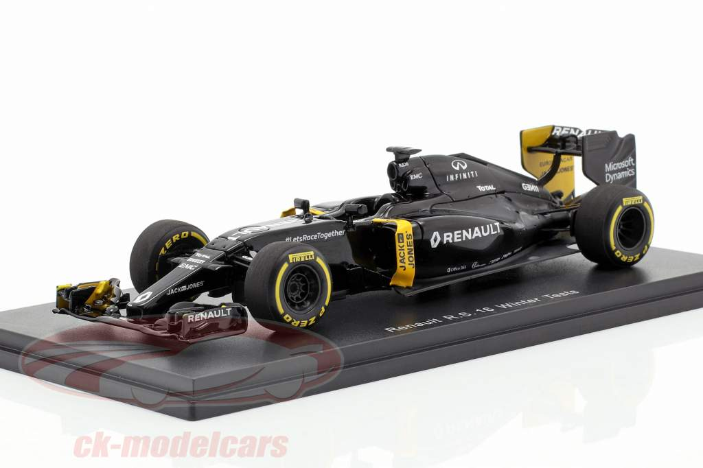 K. Magnussen & J. Palmer Renault R.S.16 invierno pruebas fórmula 1 2016 1:43 Spark